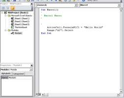 macro code in visual basic editor
