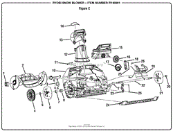 homelite ry40801 snow blower parts diagram for wiring diagram figure c