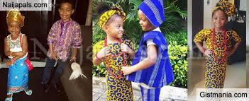 the children of ace edian basket mouth that of peter and paul okoye and lola maja today at their various s stepped out in traditional outfits to