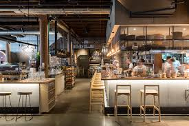 Restaurant Kitchen Furniture Interesting To See Open Kitchen Separated By Knee Walls From Rest