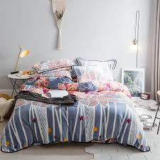 winter flowers flannel duvet cover set queen bedding sets soft flannel duvet cover fleece bed sheet pillow case bed linens comforter sets black and