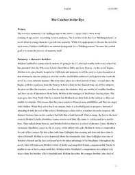 catcher in the rye thesis sentence essay academic writing service catcher in the rye thesis sentence