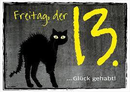 Postkarte Spruchkarte Lustige Sprüche Karte Katze Freitag Der 13
