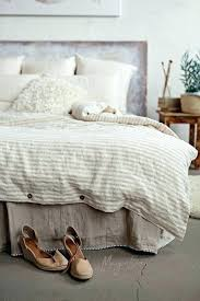 striped in natural linen duvet cover hotel collection king