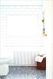 beveled subway tile shower white tiles grey grout bathroom a modern edge with subwa gray kitchen cabinets with white beveled subway tile grey grout
