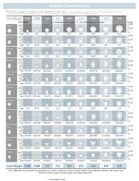 Square Diamond Size Chart Diamond Size Chart 3 Pdf Format E Database Org
