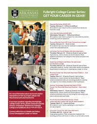 fulbright college career series offers career assistance to fulbright college career series offers career assistance to fulbright students