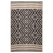 kilimanjaro reversible indoor outdoor rug 120x179cm black