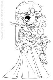 Small Picture Scottish Elf Princess Lineart by YamPuff on deviantART Digi
