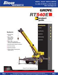 Grove Rt540e Product Guide Manualzz Com