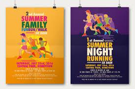 Flyer Poster Templates Summer Fun Run Flyer Poster Template On Behance