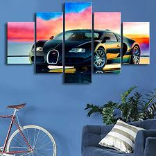Framed photos, posters, canvas, puzzles, metal, photo gifts and wall art. Bugatti Chiron Sports Car Poster Canvas Print Art Home Decor Wall