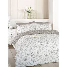 just contempo toile bird duvet cover set single grey co uk kitchen home