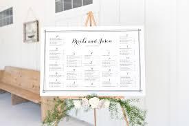Brooke Modern Wedding Seating Chart Dearlc