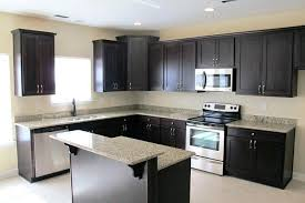 light colored kitchen cabinets with dark countertops cabinet white shaker handles espresso walnut door wall l
