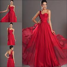 red dresses for a wedding. red gowns for wedding - a classic flowing gown with side strap dresses