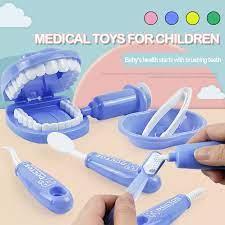 Được Đầu 9 Cái/bộ Trẻ Em Nha Sĩ Trò Chơi Đồ Chơi Mô Hình Bác Sĩ Kiểm Tra  Răng Đồ Chơi Giáo Dục Học Tập Mô Phỏng Cho Trẻ