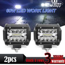 Boat Flood Lights Co Light 4inch Led Work Light Bar 60w 12v 24v Spot Flood