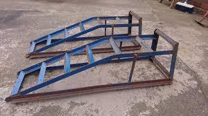 vintage british sheffield steel good quality car ramps classic car diy mechanic