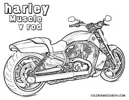 Better printable harley davidson coloring pages free motocycle