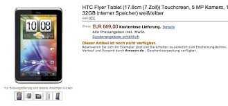 htc tablet. htc flyer tablet price leaked by amazon germany htc