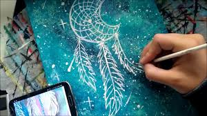 How To Make A Spider Web Dream Catcher Speed Painting a Galaxy Dream Catcher Inspired by TheMindBlossom 82