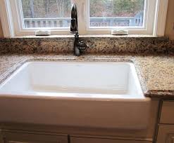 granite behind faucet to window sill farmers under mount sink with splash kitchen and faucetinstalling