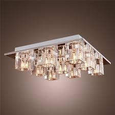 led ceiling light fixtures rectangular semi flush mount lighting modern fixture