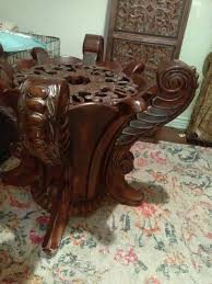gorgeous ornate round table with glass top furniture in woodland hills ca offerup