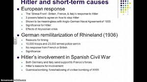 term causes of world war essay short term causes of world war 1 essay