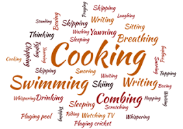 Action words ending with -ing - Learning English