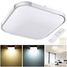 36w led ceiling light flush mount kitchen home fixture lamp w remote control us
