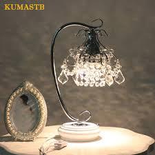 LED Crystal Table Lamp Bedroom Bedside Light Luxury Crystal Desk Lamp For  Study H42cm