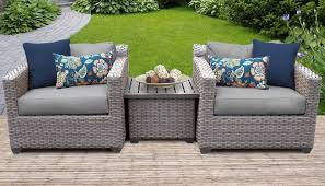 florence 3 piece outdoor wicker patio