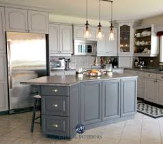 oak kitchen cathedral cabinets painted benjamin moore baltic gray and gray 2121 10 with