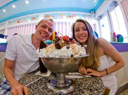 the kitchen sink is definitely the most fun dessert and something everyone should try once sarah and i accepted the challenge on our honeymoon