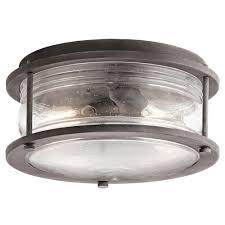 kichler 49669wzc ashland bay weathered zinc exterior ceiling light fixture loading zoom