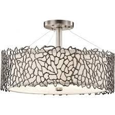 silver c pendant or semi flush fitting pewter ceiling light