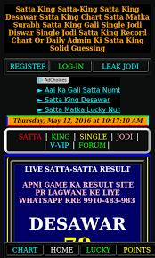 Satta King Result Chart Described Disawar Satta Result Chart