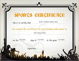 Sports Certificate Templates For Ms Word Professional Certificate