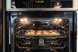 open oven door while baking. frigidaire double oven fget-3065pf interior open door while baking