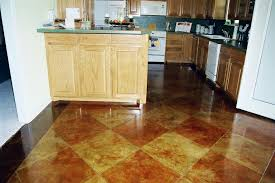 Stained Concrete Kitchen Floor Amazing Stained Concrete Floors Kitchen Kitchen Floor Designs And