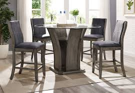 elements destin round counter dining table and four counter side chairs