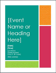 Sample Event Announcement Poster Template | Formal Word Templates