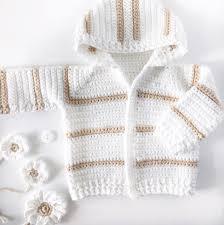 Crochet Baby Sweater Size Chart Single Crochet Baby Sweater