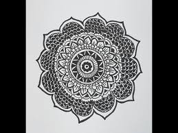 How To Draw Patterns Classy How To Draw A Mandala Design Mandala Flower Pattern YouTube