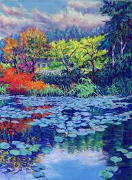saatchi art monet s water lily garden painting by zoe elizabeth norman