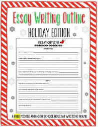 these narrative essay prompts are perfect for middle schoolers  looking for an activity for your students to complete during the last few days before christmas break this holiday edition essay outline will help