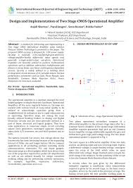Two Stage Op Amp Design Pdf Design And Implementation Of Two Stage Cmos Operational