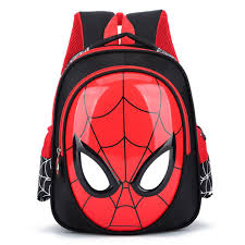 2018 3d 3 6 year old bags for boys waterproof backpacks child spiderman book